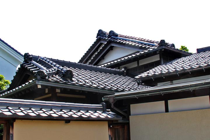 Roofs in the Naga-machi Samurai District in Kanazawa