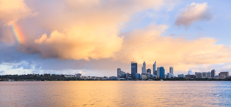 Perth and the Swan River at Sunrise, 19th September 2011