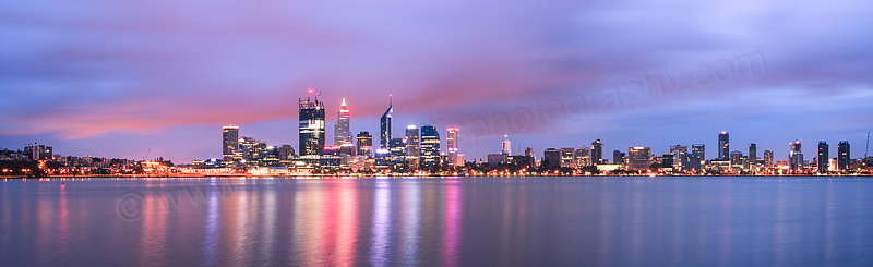 Perth and the Swan River at Sunrise, 18th October 2011