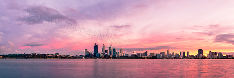 Perth and the Swan River at Sunrise, 1st April 2012