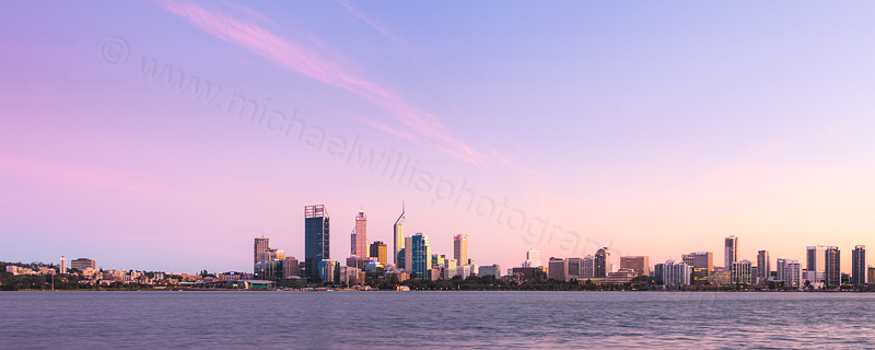 Perth and the Swan River at Sunrise, 11th April 2012