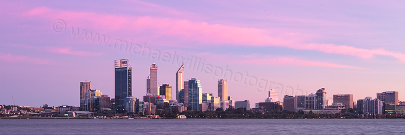 Perth and the Swan River at Sunrise, 24th April 2012