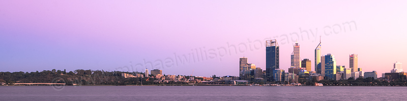 Perth and the Swan River at Sunrise, 23rd April 2012