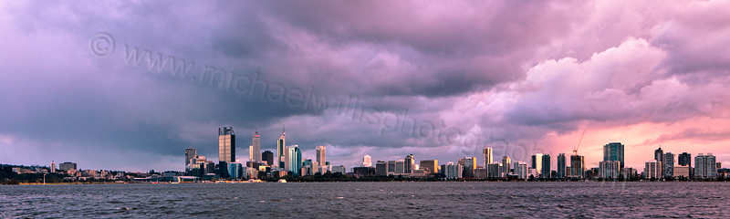 Perth and the Swan River at Sunrise, 4th September 2012