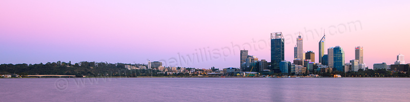 Perth and the Swan River at Sunrise, 7th September 2012
