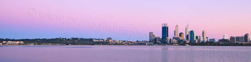 Perth and the Swan River at Sunrise, 30th September 2012