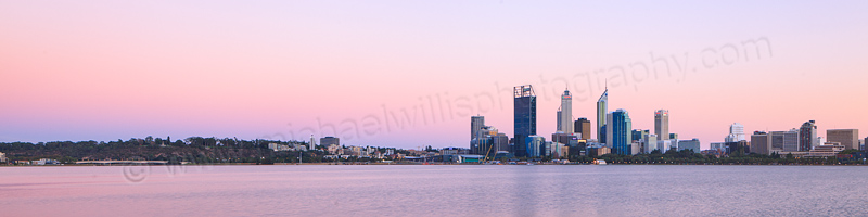 Perth and the Swan River at Sunrise, 6th March 2013