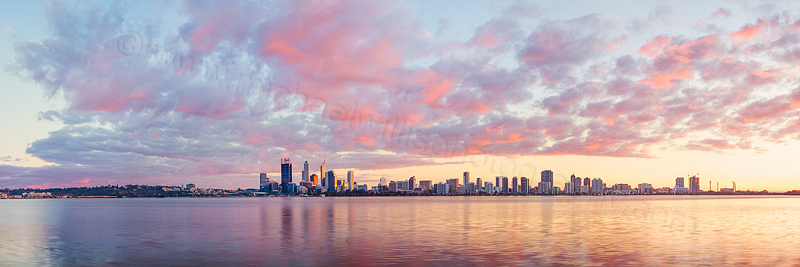 Perth and the Swan River at Sunrise, 8th June 2013