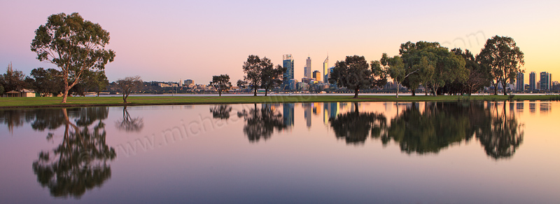 Sunrise by the Swan River, 8th July 2013