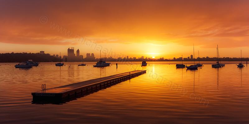 Sunrise at Matilda Bay, 10th July 2013