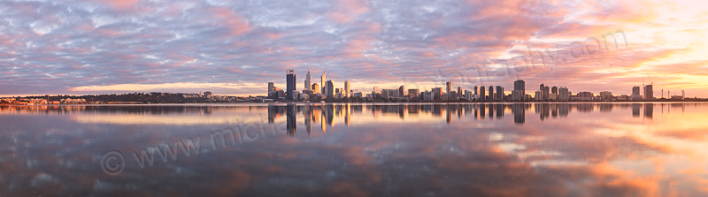 Perth and the Swan River at Sunrise, 21st July 2013