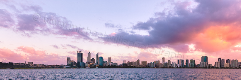 Perth and the Swan River at Sunrise, 24th July 2013