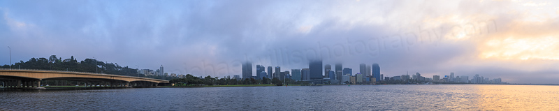 Perth and the Swan River at Sunrise, 3rd September 2013