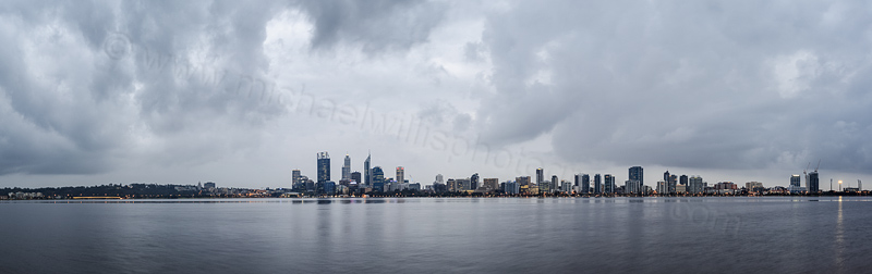 Perth and the Swan River at Sunrise, 2nd September 2013