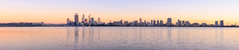 Perth and the Swan River at Sunrise, 9th September 2013