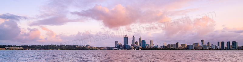 Perth and the Swan River at Sunrise, 12th September 2013