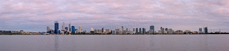 Perth and the Swan River at Sunrise, 13th September 2013