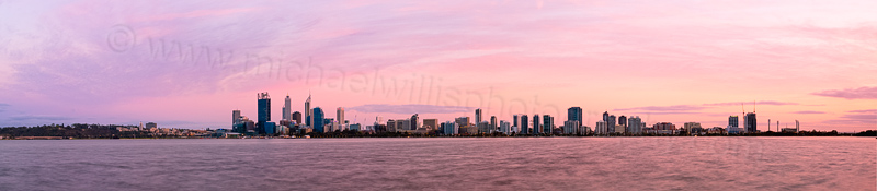 Perth and the Swan River at Sunrise, 16th September 2013