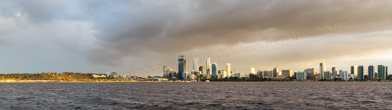 Perth and the Swan River at Sunrise, 18th September 2013