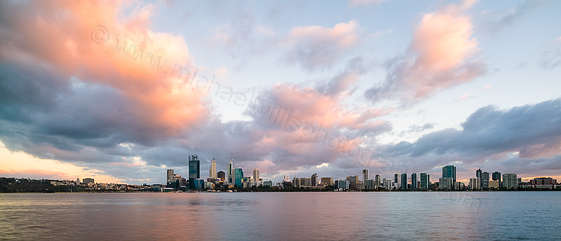 Perth and the Swan River at Sunrise, 11th October 2013