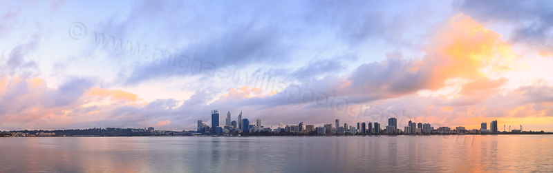 Perth and the Swan River at Sunrise, 6th April 2014