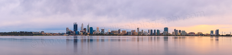 Perth and the Swan River at Sunrise, 2nd September 2014
