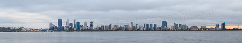 Perth and the Swan River at Sunrise, 2nd November 2014
