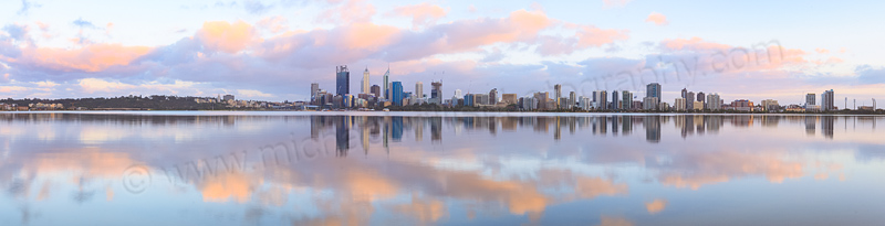 Perth and the Swan River at Sunrise, 3rd November 2014
