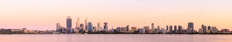 Perth and the Swan River at Sunrise, 4th November 2014