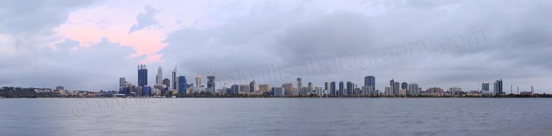 Perth and the Swan River at Sunrise, 10th November 2014
