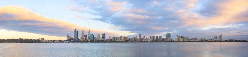 Perth and the Swan River at Sunrise, 12th November 2014