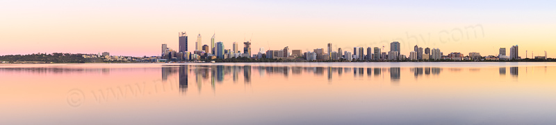 Perth and the Swan River at Sunrise, 14th November 2014