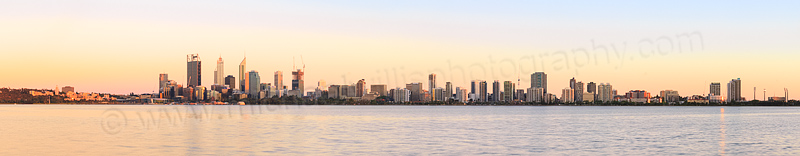 Perth and the Swan River at Sunrise, 17th November 2014