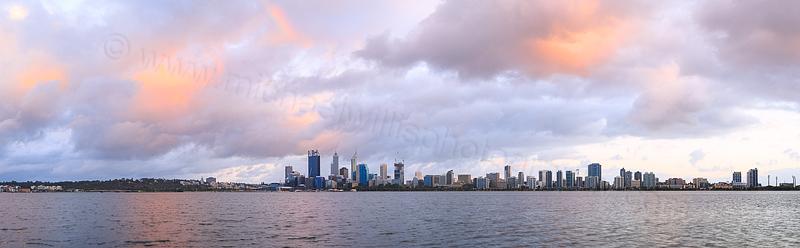 Perth and the Swan River at Sunrise, 21st November 2014
