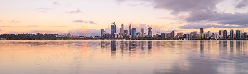 Perth and the Swan River at Sunrise, 22nd November 2014