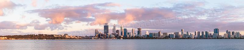 Perth and the Swan River at Sunrise, 23rd November 2014