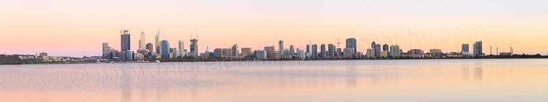 Perth and the Swan River at Sunrise, 24th November 2014