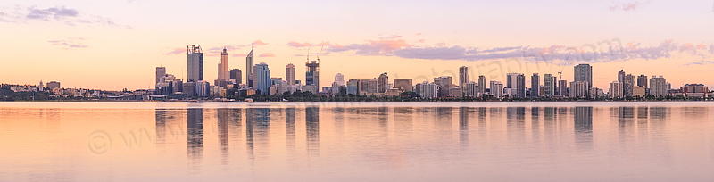 Perth and the Swan River at Sunrise, 28th November 2014