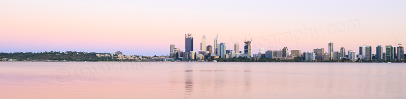 Perth and the Swan River at Sunrise, 1st January 2015
