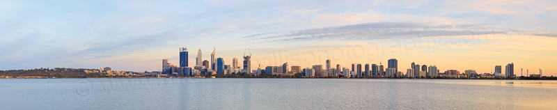 Perth and the Swan River at Sunrise, 2nd January 2015
