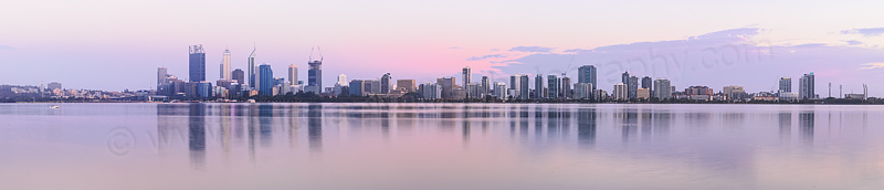 Perth and the Swan River at Sunrise, 6th January 2015