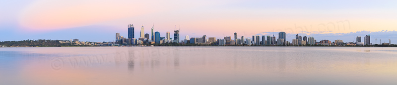 Perth and the Swan River at Sunrise, 7th January 2015