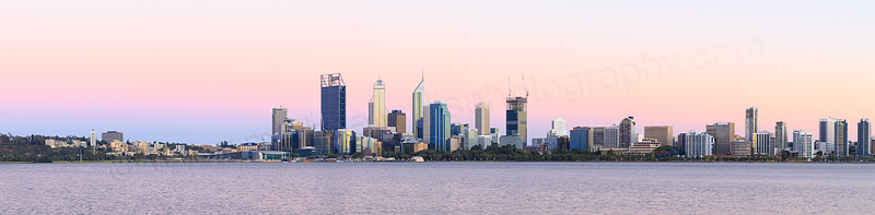 Perth and the Swan River at Sunrise, 9th January 2015