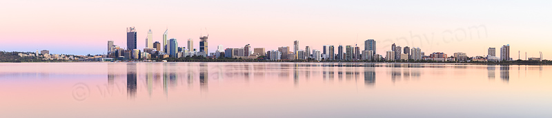 Perth and the Swan River at Sunrise, 12th January 2015