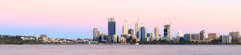 Perth and the Swan River at Sunrise, 10th January 2015