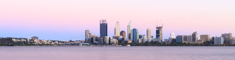 Perth and the Swan River at Sunrise, 17th January 2015