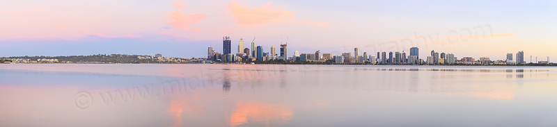 Perth and the Swan River at Sunrise, 18th January 2015
