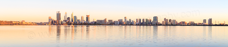 Perth and the Swan River at Sunrise, 20th January 2015