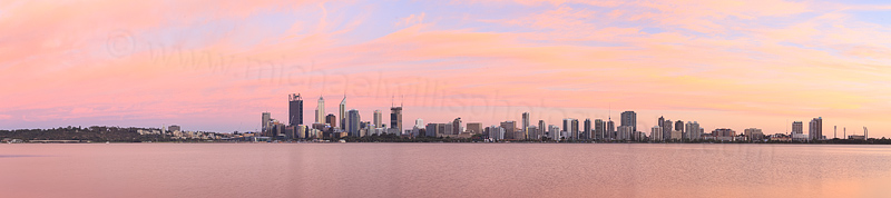Perth and the Swan River at Sunrise, 24th January 2015