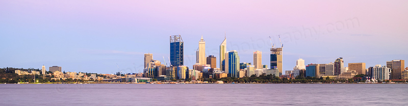 Perth and the Swan River at Sunrise, 27th January 2015